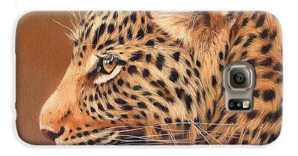 Leopard Portrait Galaxy S6 Case by David Stribbling