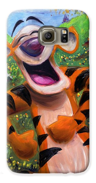 Let's You And Me Bounce - Tigger Galaxy S6 Case by Andrew Fling