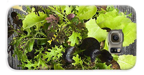 Lettuce Seedlings Galaxy S6 Case by Elena Elisseeva