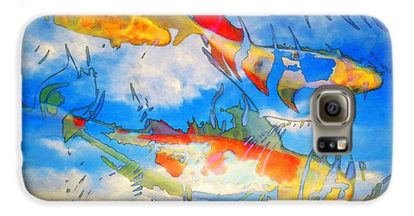 Life Is But A Dream - Koi Fish Art Galaxy S6 Case by Sharon Cummings