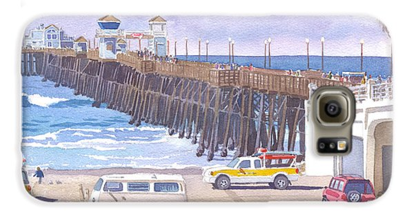 Lifeguard Trucks At Oceanside Pier Galaxy S6 Case by Mary Helmreich