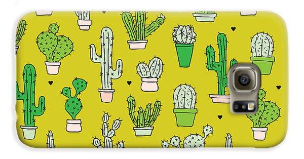 Little Cactus Botanical Garden Galaxy S6 Case by Maaike Boot