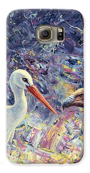 Living Between Beaks Galaxy S6 Case by James W Johnson