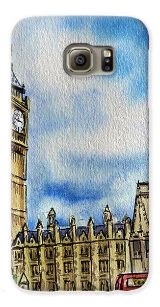 London England Big Ben Galaxy S6 Case by Irina Sztukowski