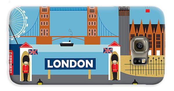 London England Skyline Style O-lon Galaxy S6 Case by Karen Young