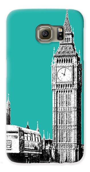London Skyline Big Ben - Teal Galaxy S6 Case by DB Artist