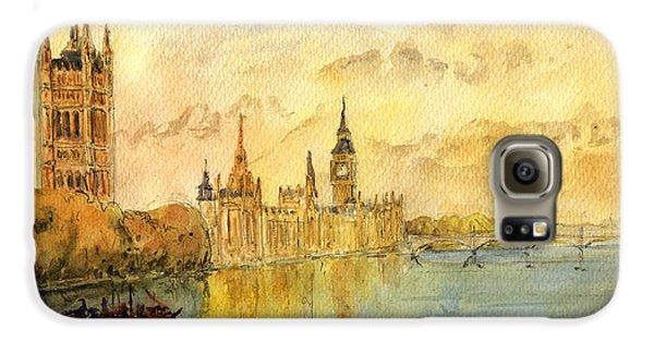 London Thames River Galaxy S6 Case by Juan  Bosco