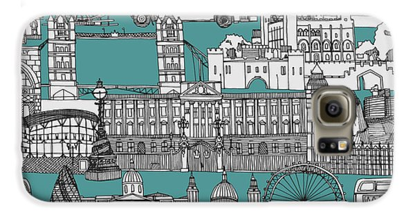 London Toile Blue Galaxy S6 Case by Sharon Turner
