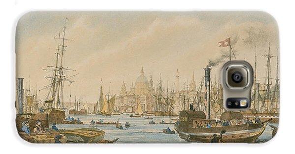 Looking Towards London Bridge Galaxy S6 Case by William Parrot