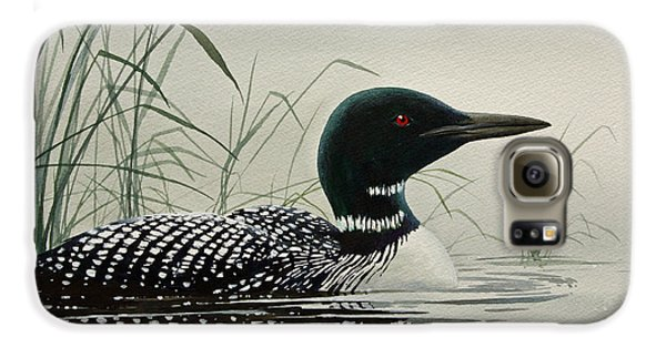 Loon Near The Shore Galaxy S6 Case by James Williamson