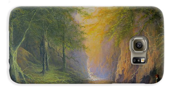 Lord Of The Rings Fangorn Treebeard Merry And Pippin Galaxy S6 Case by Joe  Gilronan