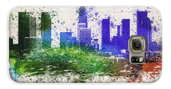 Los Angeles In Color  Galaxy S6 Case by Aged Pixel