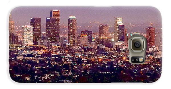 Los Angeles Skyline At Dusk Galaxy S6 Case by Jon Holiday