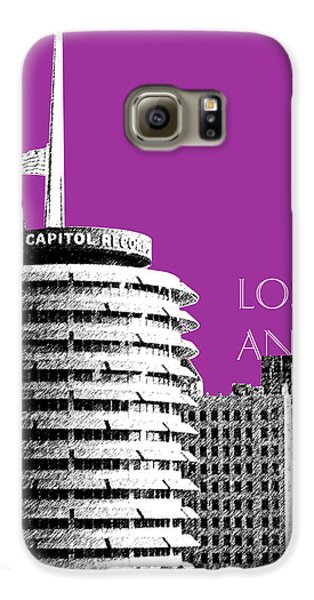 Los Angeles Skyline Capitol Records - Plum Galaxy S6 Case by DB Artist