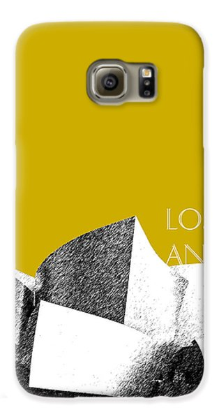 Los Angeles Skyline Disney Theater - Gold Galaxy S6 Case by DB Artist