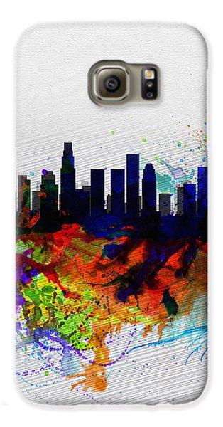 Los Angeles  Watercolor Skyline 2 Galaxy S6 Case by Naxart Studio
