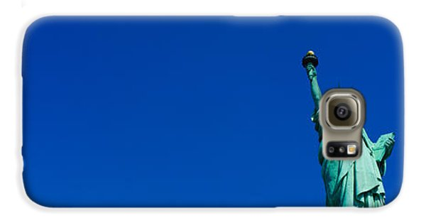 Low Angle View Of Statue Of Liberty Galaxy S6 Case by Panoramic Images
