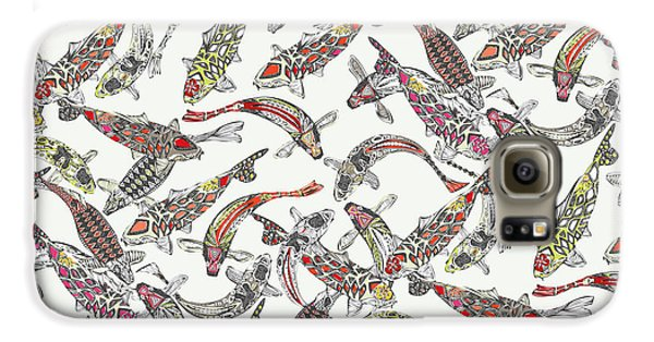 Lucky Koi Off White Galaxy S6 Case by Sharon Turner
