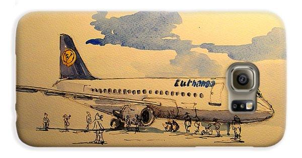 Lufthansa Plane Galaxy S6 Case by Juan  Bosco