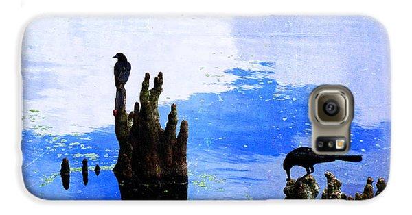 Lunch Break - Crow Art By Sharon Cummings Galaxy S6 Case by Sharon Cummings