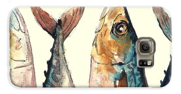 Mackerel Fishes Galaxy S6 Case by Juan  Bosco