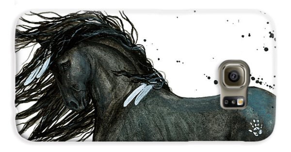 Majestic Friesian Horse 112 Galaxy S6 Case by AmyLyn Bihrle