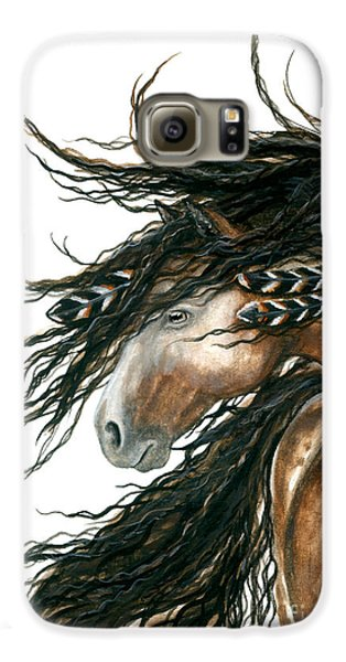 Majestic Pinto Horse 80 Galaxy S6 Case by AmyLyn Bihrle