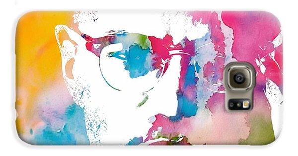 Malcolm X Watercolor Galaxy S6 Case by Dan Sproul