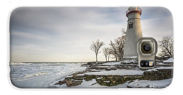 Marblehead Lighthouse Winter Galaxy S6 Case by James Dean