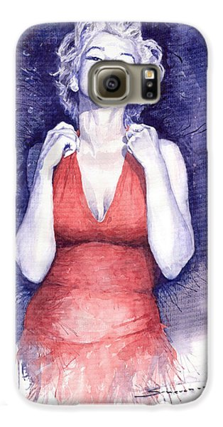 Marilyn Monroe Galaxy S6 Case by Yuriy  Shevchuk