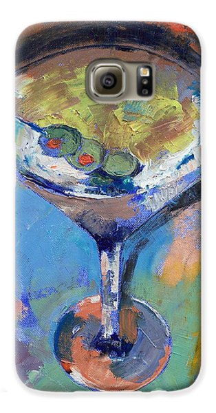 Martini Oil Painting Galaxy S6 Case by Michael Creese