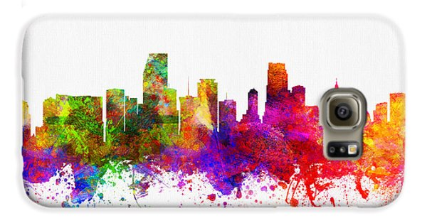 Miami Florida Skyline Galaxy S6 Case by Aged Pixel