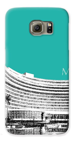 Miami Skyline Fontainebleau Hotel - Teal Galaxy S6 Case by DB Artist