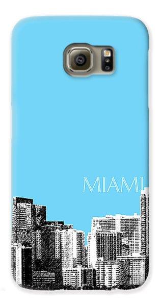 Miami Skyline - Sky Blue Galaxy S6 Case by DB Artist