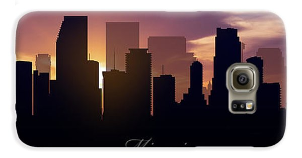 Miami Sunset Galaxy S6 Case by Aged Pixel