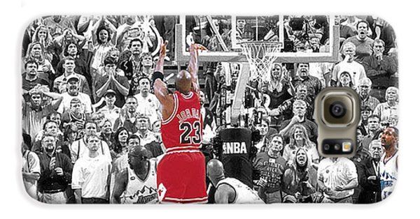 Michael Jordan Buzzer Beater Galaxy S6 Case by Brian Reaves