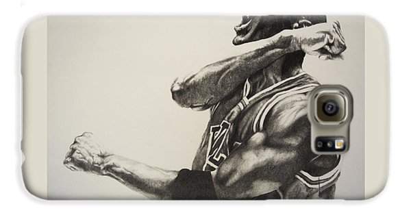 Michael Jordan Galaxy S6 Case by Jake Stapleton