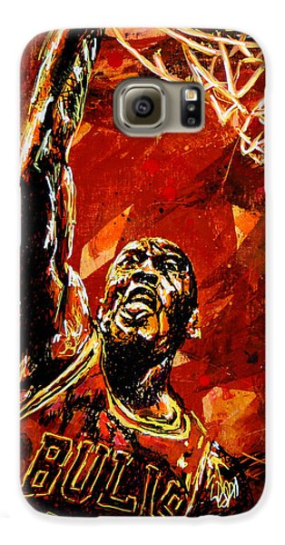 Michael Jordan Galaxy S6 Case by Maria Arango
