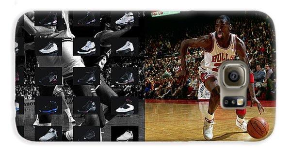 Michael Jordan Shoes Galaxy S6 Case by Joe Hamilton