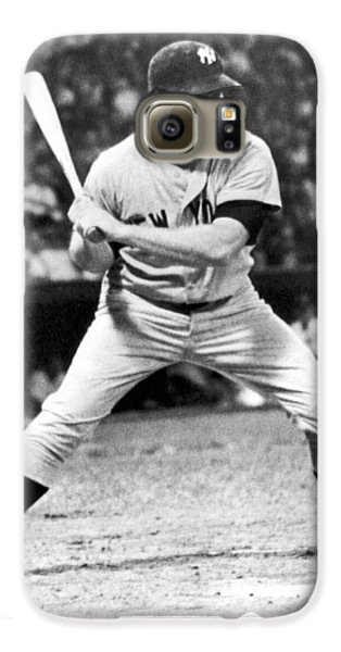 Mickey Mantle At Bat Galaxy S6 Case by Underwood Archives