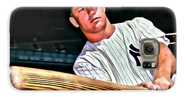 Mickey Mantle Painting Galaxy S6 Case by Florian Rodarte