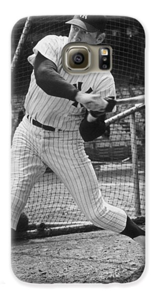 Mickey Mantle Poster Galaxy S6 Case by Gianfranco Weiss