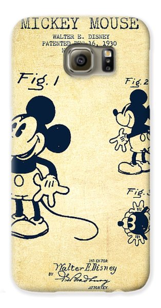 Mickey Mouse Patent Drawing From 1930 - Vintage Galaxy S6 Case by Aged Pixel