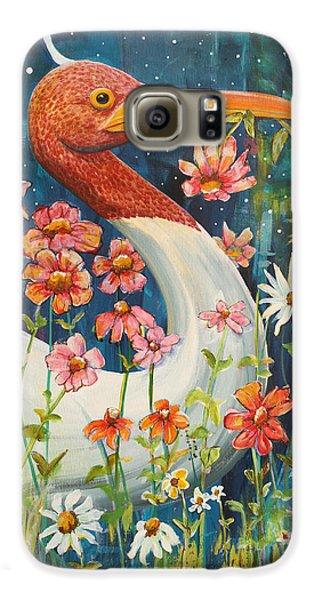 Midnight Stork Walk Galaxy S6 Case by Blenda Studio