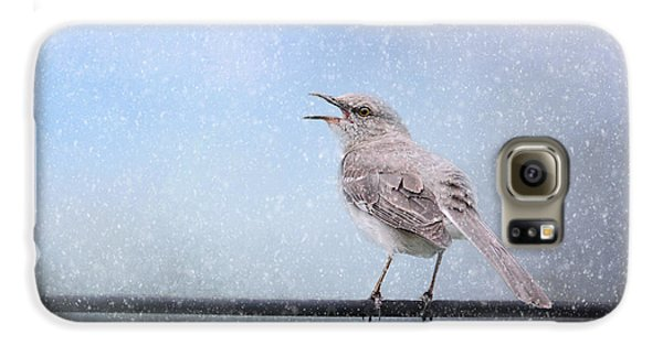Mockingbird In The Snow Galaxy S6 Case by Jai Johnson