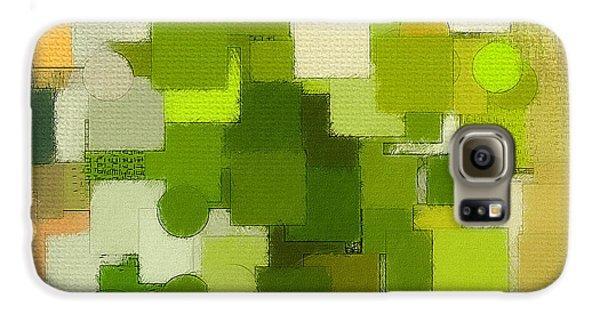 Modern Abstract Xxxv Galaxy S6 Case by Lourry Legarde
