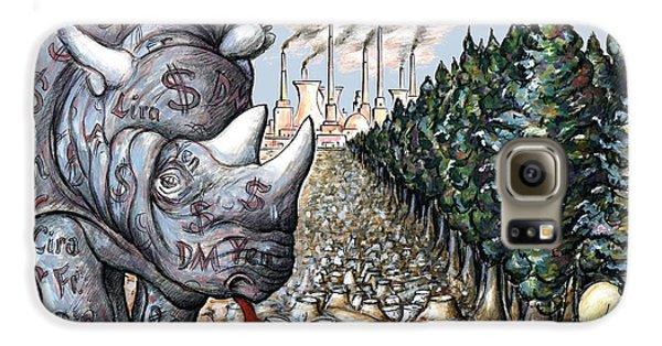 Money Against Nature - Cartoon Art Galaxy S6 Case by Art America Online Gallery