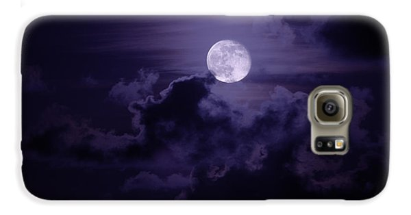 Moody Moon Galaxy Case by Chad Dutson