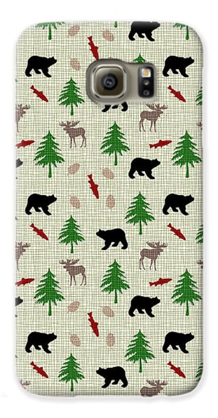 Moose And Bear Pattern Galaxy S6 Case by Christina Rollo
