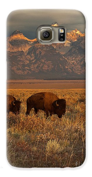 Morning Travels In Grand Teton Galaxy S6 Case by Sandra Bronstein
